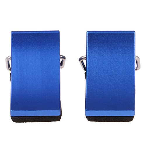 Flameer 2pcs Calzos De La Rueda para RC Crawler/Trailer Auto/Truck Car Metal Blue