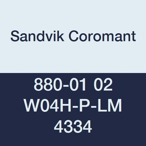 Sandvik Coromant 880-01 02 W04H-P-LM 4334 Carbide CoroDrill 880 Peripheral Insert, Peripheral Insert Grade 4334 for Steel, Cast Iron Materials, 4.8 mm Inscribed Circle (Pack of 10) by Sandvik Coromant