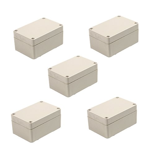 BestTong ABS Plastic Waterproof Electronic Project DIY Junction Box Enclosure Case 100mm x 68mm x 50mm Pack of 5 ()
