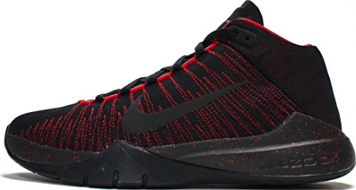 Nike 834319-003, Zapatillas de Baloncesto para Niños Negro (Black / Black University Red)