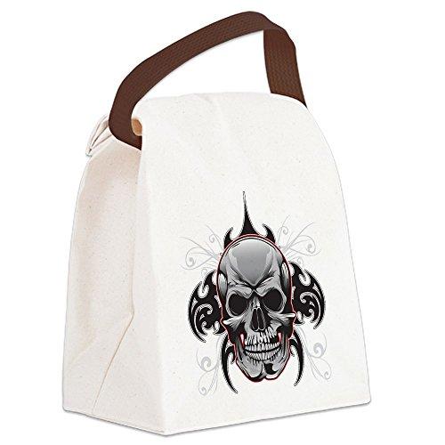 Canvas Lunch Bag Tribal Skull -