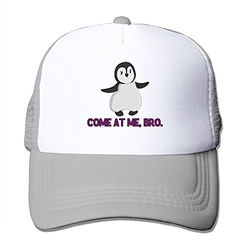 XiaoHans Men Come At Me, Bro Penguin Classic Jogging Ash Mesh Hat Adjustable Snapback (Ralph Lauren Baby Boy Beanie)