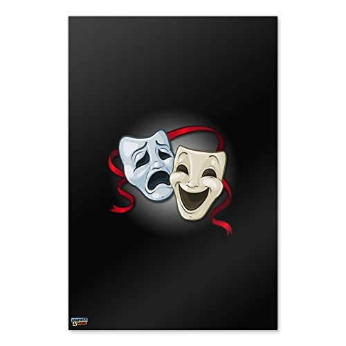 Graphics and More Drama Comedy Tragedy Masks Theater Home Business Office Sign - Poster - 24