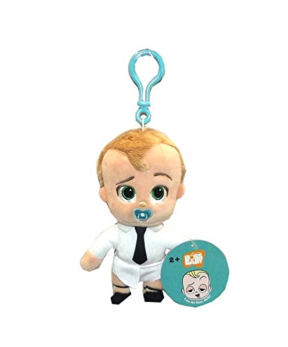 Dreamworks Boss Baby In Diaper Plush Figure With Clip  8 Inches