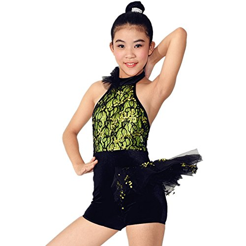 MiDee Hot Girl's Latin Dancing Dress Jazz Dance Outfit Ballroom Dance Clothing Vestidos For Girls (MA,