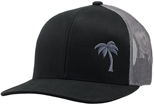 - Lindo Trucker Hat - Palm Tree Series (Black/Graphite)