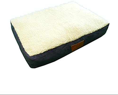 Ellie-Bo Blue Dog Bed With Faux Suede And Sheepskin Topping To Fit Extra Large
