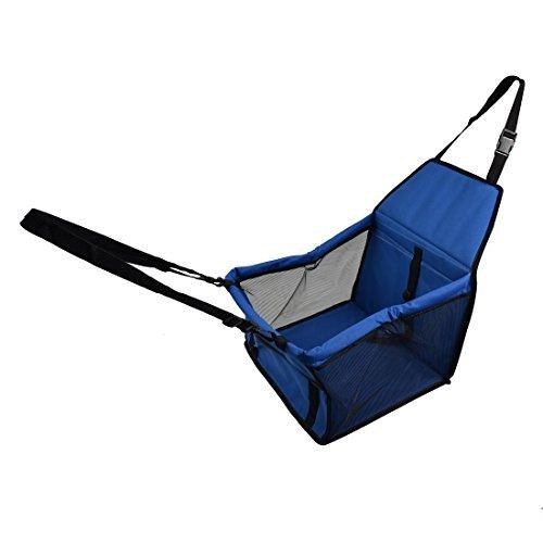 eDealMax Nylon esterna Viaggi Meshy morbida Sided Zipper bagagli Pet Dog Carrier Car Crate caso del Gatto di Lookout sede del ripetitore