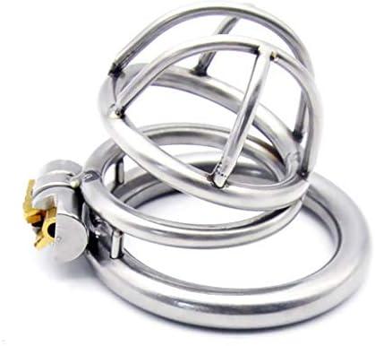 Pllxq 男性に防止オナニーや性的衝動楽しいおもちゃのための医療メタルステンレス鋼の貞操ロック貞操ベルトズボンシリコーンプラスチックデバイス (Size : 45mm)
