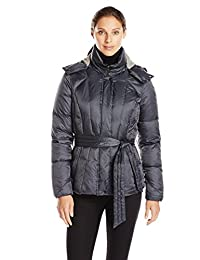 Geox Women's Belted Down Jacket with Hood