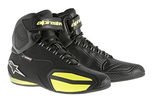 Alpinestars Faster Men's Waterproof Street Motorcycle Shoes - Black/Yellow / 11.5