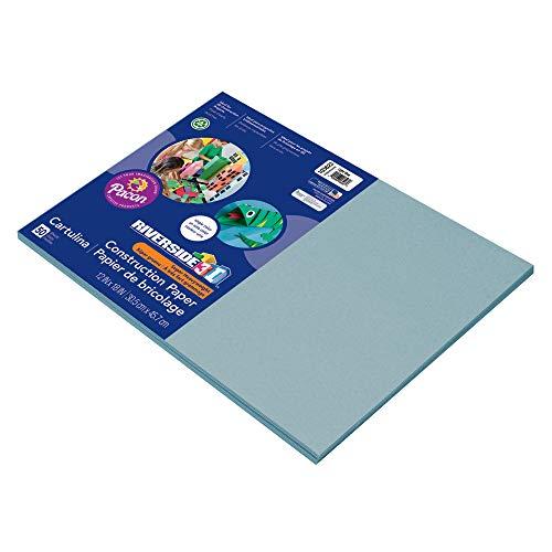 Riverside 3D Construction Paper, Light Blue, 12