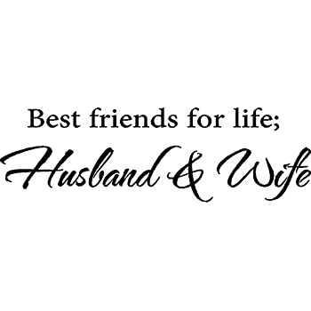 Amazoncom Best Friends For Life Husband Wife Vinyl Wall Decal