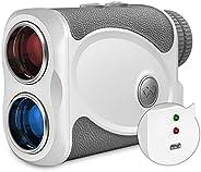 WOSPORTS Rechargeable Golf Rangefinder with Slope, 800 Yards Laser Range Finder Support Flag Lock Vibration, C