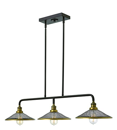 4364KZ Americana Three Light Stem Hung Linear from Rigby collection in Bronze/Darkfinish,