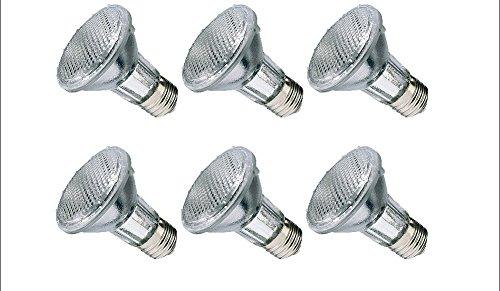 BEELITE 6-Pack Halogen PAR20 39 Watt (50W Replacement), Dimmable, 120 Volt, 40 Degree Flood, Light Bulb, 6 (Par20 Halogen Bulb)