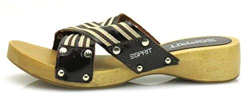 Reloj de madera chanclas para mujer para zapatos marrón - marrón