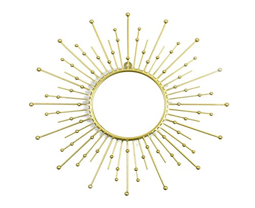 Your Home and Beyond- Modern, Gold metal, Sunburst Mirror. Perfect for any room, even spas and office. Nice addition to the bedroom or kids play room. Let this sun mirror - Mirror Golden Sun