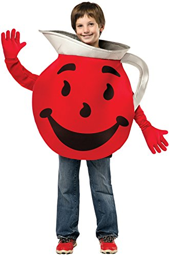 Cool Halloween Costumes For Guys (Rasta Imposta Men's Teen Kool Aid Guy, Red/Black/Silver,)