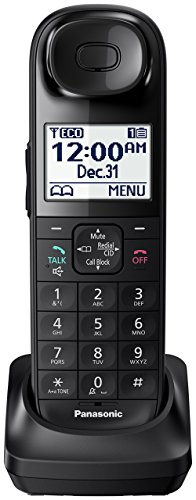 Panasonic KX-TGLA40B Dect 6.0 Digital Additional Cordless Handset for KX-TGL432B/KX-TGL433B (Renewed)
