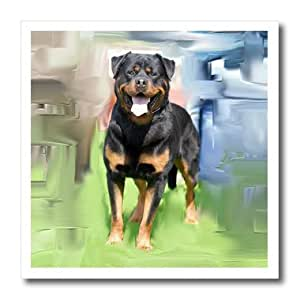 ht_4337_2 Dogs Rottweiler - Rottweiler - Iron on Heat Transfers - 6x6 Iron on Heat Transfer for White Material