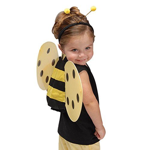 U.S. Toy Child Size Honey Bee Wings and Antenna Costume Set]()