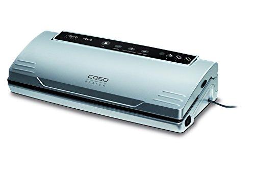 Caso VC100 1380 Vakuumierer (120W, 300mm Rollenbreite, Vakuumregulierung, inkl. 10 Beutel) silber