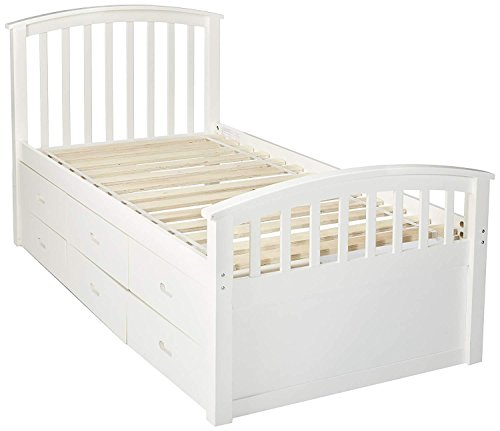 (DONCO KIDS 425W Series Bed, Twin, White)