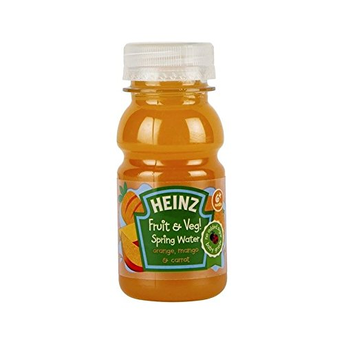 Heinz Fruit & Veg Spring Water Mango, Carrot & Orange 150ml - Pack of 2