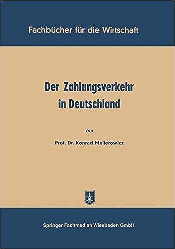 Der Zahlungsverkehr in Deutschland (Fachbücher für die Wirtschaft) (German Edition)