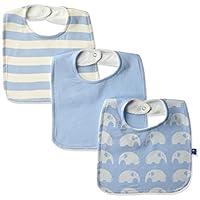 KicKee Pants Baby Essentials Bib Set Boys, Pond Stripe, Pond, Pond Elephant, ...