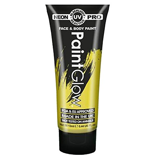 Paint Glow Pro Neon UV Face & Body Paint - UV Yellow 13ml -