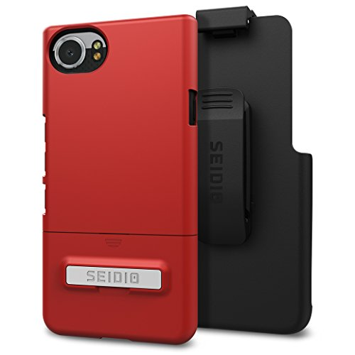 Seidio Surface with Kickstand Case and Holster Combo for BlackBerry KEYOne (Dark Red/Black)