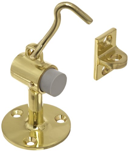 - Rockwood 472.3 Brass Door Stop with Keeper, 12 x 1-1/4