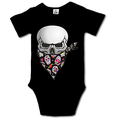 Infant Baby Girl's Bodysuit Short-Sleeve Onesie Mexican Skull Bandana Print Rompers,Outfit Stylish Jumpsuit Spring Pajamas -
