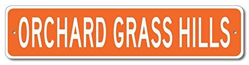 The Lizton Sign Shop Orchard Grass Hills, Kentucky U.S.A. Custom America Aluminum Metal Street Sign - Orange - - Computer Hills Corner Orchard