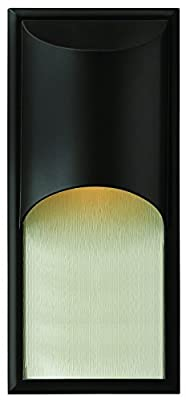 Hinkley 1834SK-LED Contemporary Modern One Light Wall Mount from Cascade collection in Blackfinish,