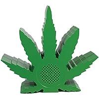 Pangea Brands PA-BT-GRN-LEAF Marijuana Bluetooth Speaker, Green