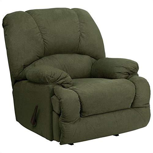 - Flash Furniture Contemporary Glacier Olive Microfiber Chaise Rocker Recliner