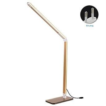 Lámpara de mesa led, luz de noche cálida, luz de escritorio para escritorio, lámparas de escritorio led, lámpara flexible flexográfica, luz de mesa de oficina dorada: Amazon.es: Iluminación