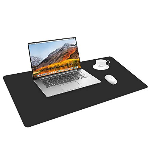 Cehomi PU Leather Desk Pad Mouse Pad,Ultra Thin Waterproof Desk Pad,Multifunctional Use Desk Writing Mat for Office/Home(31.5
