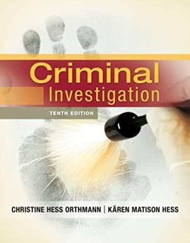 criminal investigation christine hess orthmann k ren m hess rh amazon com Criminal Investigation Book Cartoon Criminal Investigation