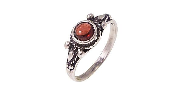 natural garnet gemstone handmade silver ring garnet gemstone ring RI002N A