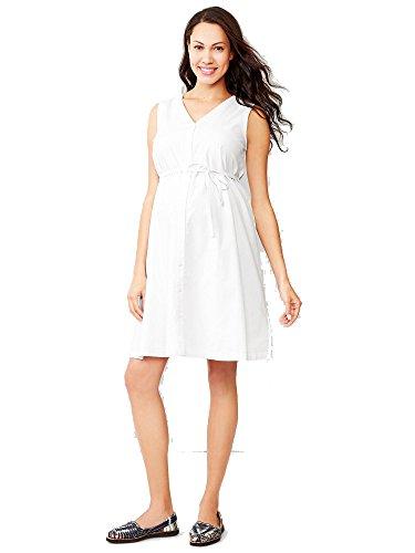 GAP Maternity Dobby Stripe Shirtdress Color White (4)