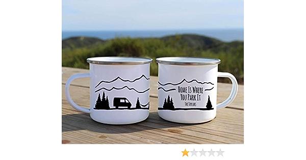 Taza de camping Home is Where You Park It personalizada ...
