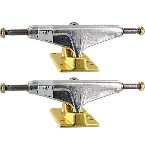 Venture Trucks V-Titanium Low Polished/Gold Skateboard Trucks - 5.0