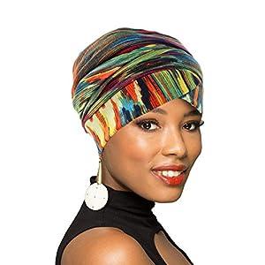 Best Epic Trends 41QLlgEImjL._SS300_ Turban Head Wrap Scarf,African Long Scarf Turban Shawl Hair Bohemian Headwrap