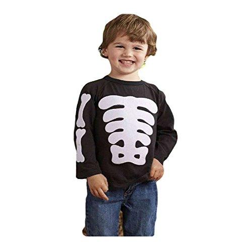Mud Pie-Boys Halloween Skeleton T-Shirt