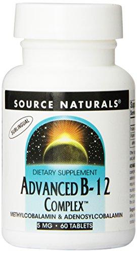 SOURCE NATURALS Advanced B-12 Complex 5 Mg Lozenge, 60 Count (B-12 Vitamins Natural Source)