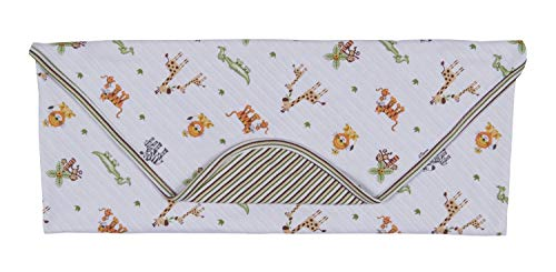 Kissy Kissy Baby-Boys Infant Jolly Jungle Reversible Receiving Blanket-Multicolored-One Size ()
